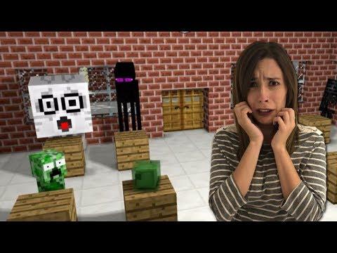 LA ESCUELA DE MONSTRUOS Y EL JUEGO DEL TERROR | Minecraft Animación: Video Reacción