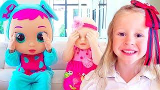 Nastya teaches children how to behave