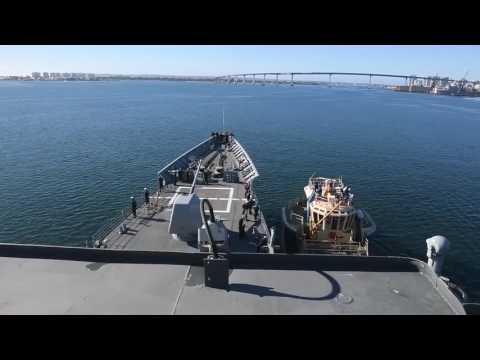 USS Lake Champlain (CG 57) Departs San Diego