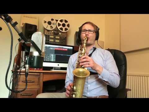 12 Bar Blues in D   Example Solo Selmer Reference 54 Alto Saxophone