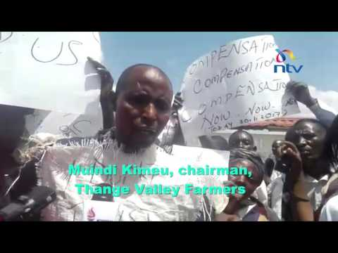 Thange Valley farmers in Makueni hold protests over delayed compensation by KPC