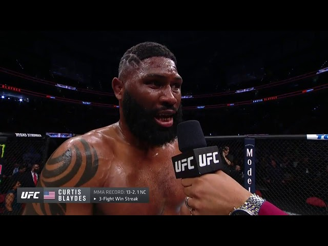 UFC Raleigh: Curtis Blaydes Octagon Interview