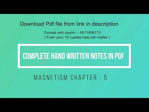 Magnetism Complete pdf notes (chapter:5) - YouTube