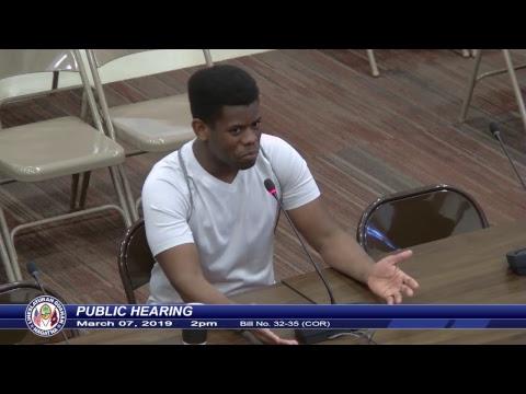 Public Hearing - Senator Clynton E. Ridgell - March 07, 2019 2pm Pt. 3