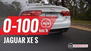 2018 Jaguar XE S (280kW) 0-100km/h & engine sound