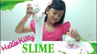 Jessica Membuat Slime MERMAID HELLO KITTY 💖 Bagus Banget Hasilnya 💖 Mainan Anak