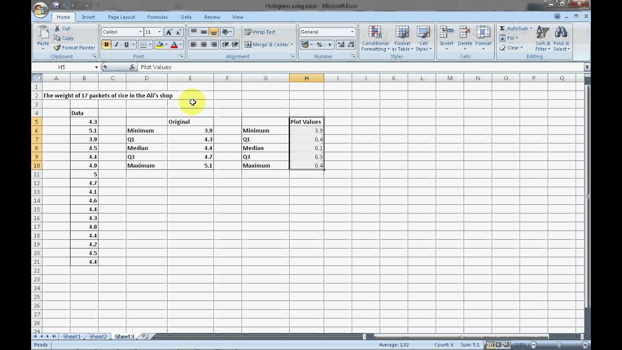 how to make boxplot in excel  BOX PLOT USING EXCEL - YouTube