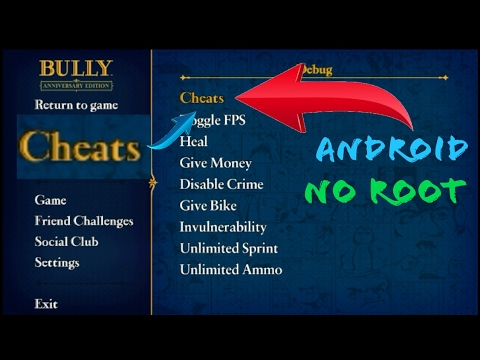 Bully Annivesary Edition Cheat Menu/Mod Apk (No Root)!