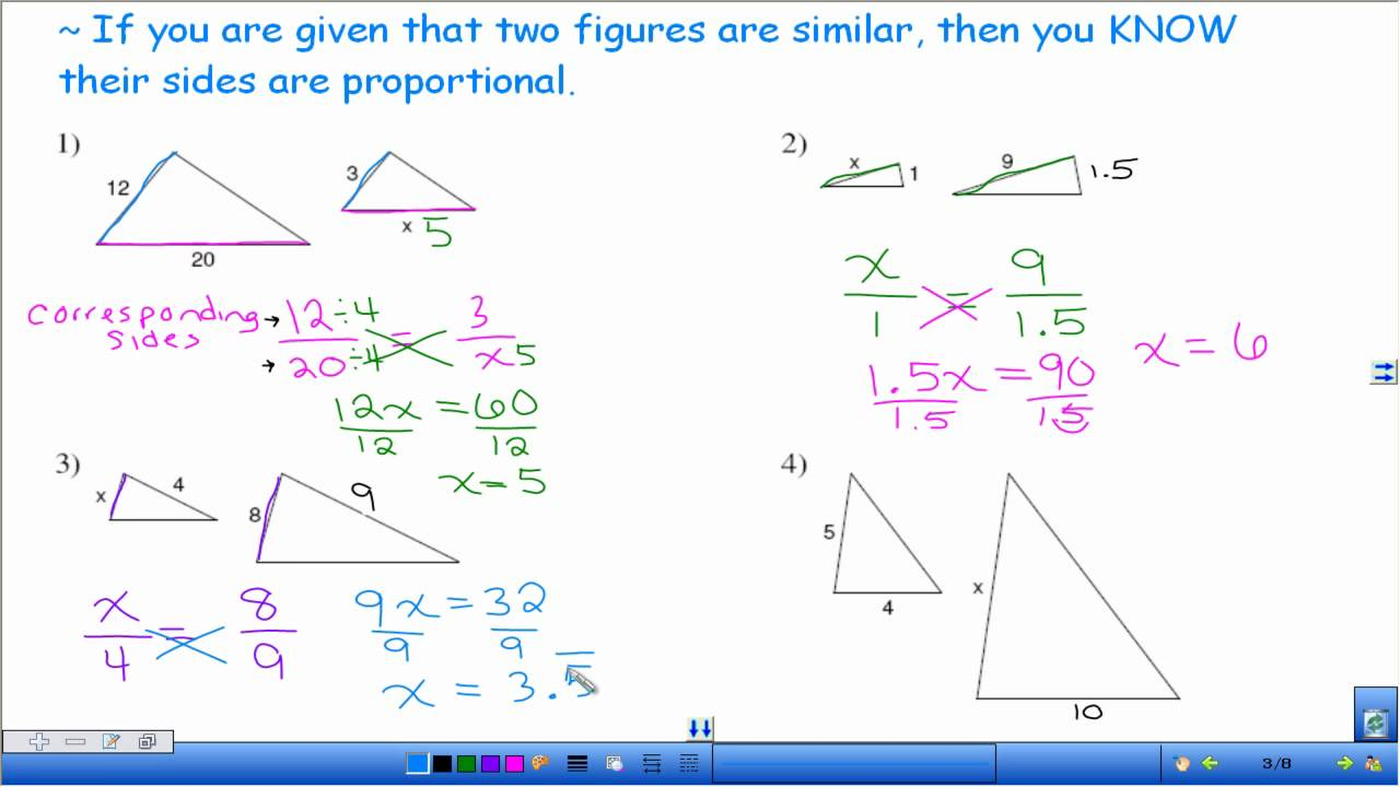 hight resolution of Find Length of Similar Figures (examples