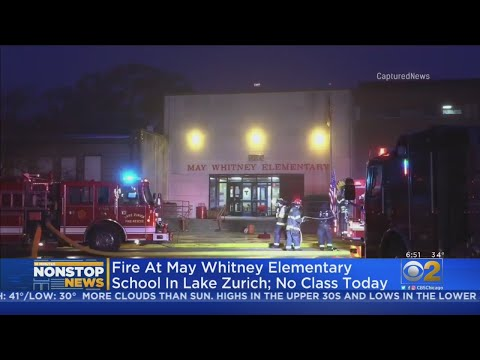 Classroom Fire At May Whitney Elementary School In Lake Zurich; No Class Monday