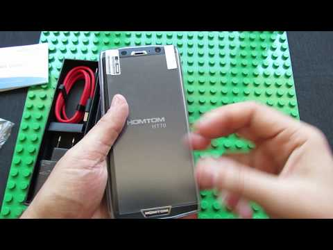 Unboxing HOMTOM HT70 - the Worlds Thinnest 10.000mAh Full Display Phone