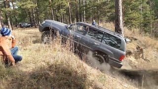 Lexus LX 470, Gelandewagen, Cherokee, Delica и др. Штурмуем Черную горку. OffRoad