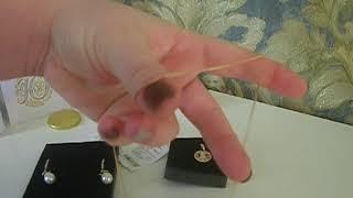 заказ ювелирных изделий из телемагазина Ювелирочка.(Серьги,подвеска и цепочка в подарок)