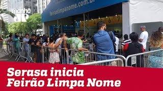 Feirão Limpa Nome, da Serasa, ajuda pessoas com dívidas correntes