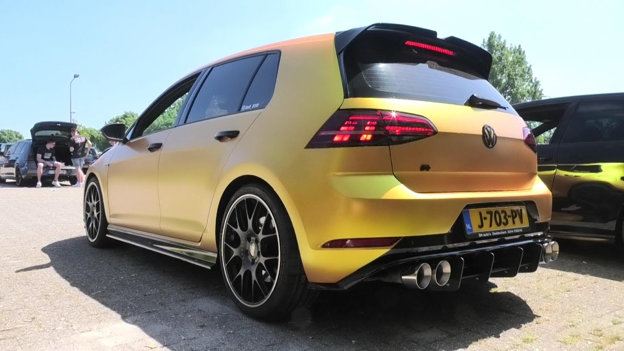 Stage 3 Golf 7R with Custom Exhaust   Acceleration, Pops and Bangs, Revs & Turbo Sound