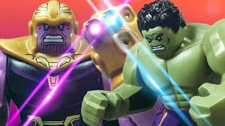 lego avengers infinity war thanos vs hulk