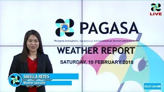 Public Weather Forecast Issued at 4:00 AM February 10, 2018