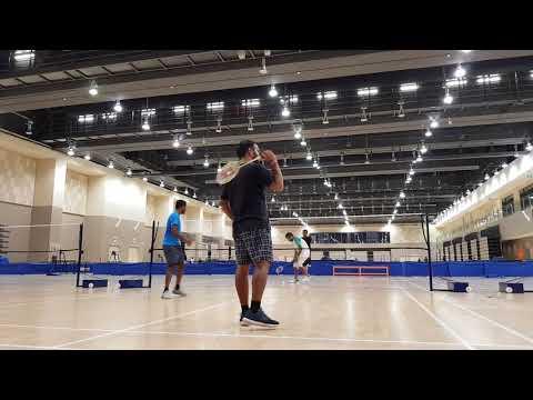 Badminton in singapore tampines hub