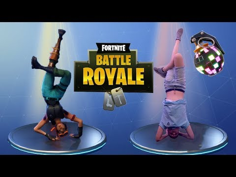 ALLE FORTNITE DANSJES IN REAL LIFE - FORTNITE BATTLE ROYALE