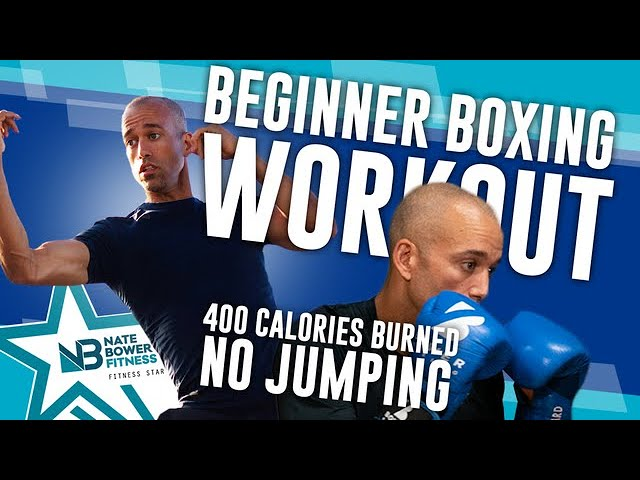 30 Minute // 400 Calorie Beginner Boxing Workout // All Boxing // NO Jumping // NateBowerFitness