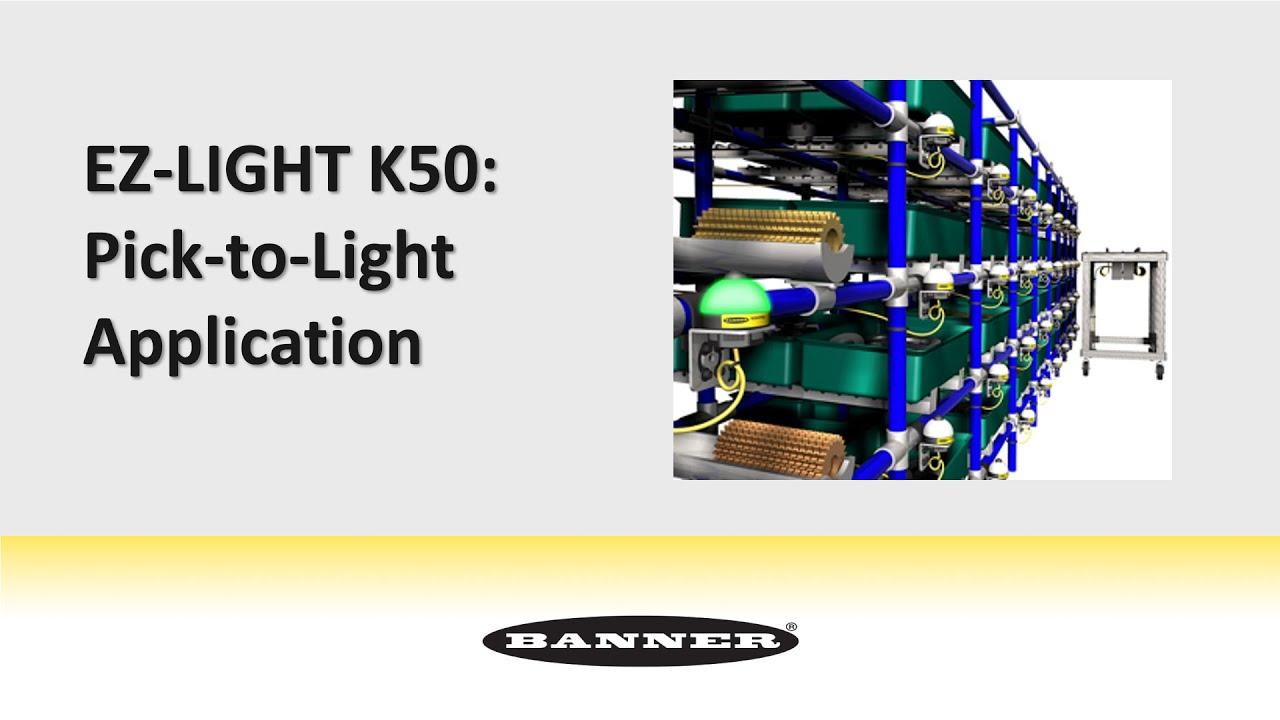 EZ LIGHT K50: Pick To Light Application   YouTube