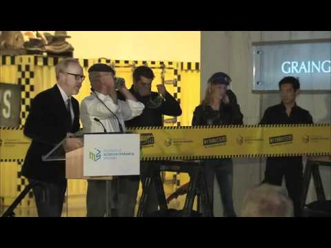 """""""MythBusters: The Explosive Exhibition"""" Ribbon Cutting"""