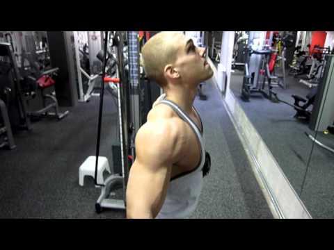 86b5473e4 *HARDCORE* Shoulder Workout by Natural Bodybuilder Polska Genetics & Niki  Gojani + Posing!!! - YouTube
