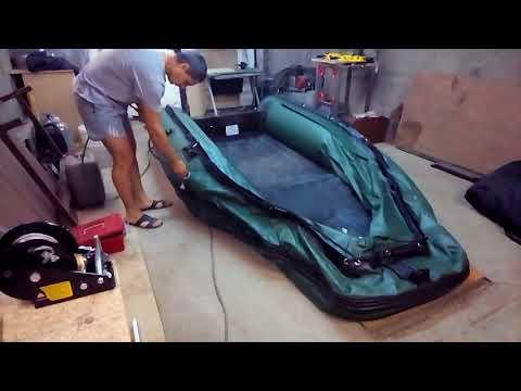 Надуваю лодку солар 350 (надувное дно)