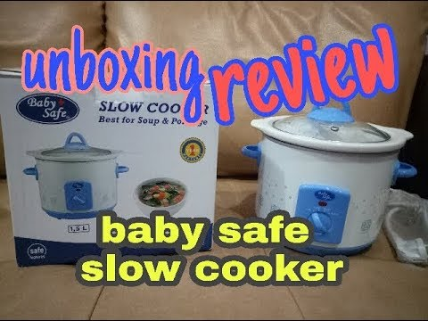 UNBOXING & REVIEW BABY SAFE SLOW COOKER UNTUK MPASI