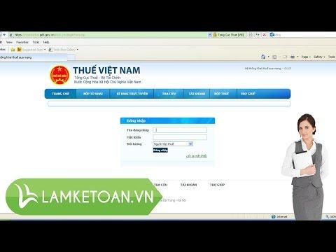 Hướng dẫn cách nộp tờ khai thuế qua mạng |Kế Toán Việt Hưng