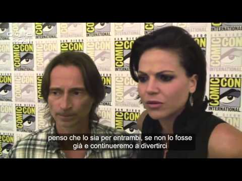 Robert Carlyle and Lana Parrilla have a laugh over Once Upon a Time [SUB ITA]