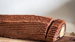Шоколадно банановый рулет за 15 минут