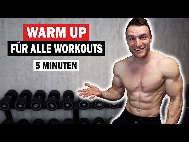 5 Minuten Ganzkörper Warm Up für alle Workouts | Sascha Huber