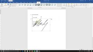 Creating and Saving Signature in Word