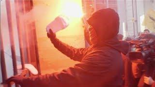 Retraite : action des cheminots au ministère des finances (16 janvier 2020, Paris-