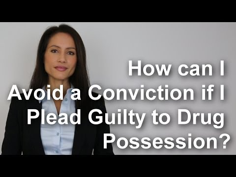 How can I avoid a conviction if I plead guilty to drug possession?