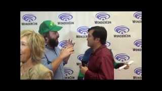 Doing Hunter Ninja Bear With Angus Sampson on Red Carpet