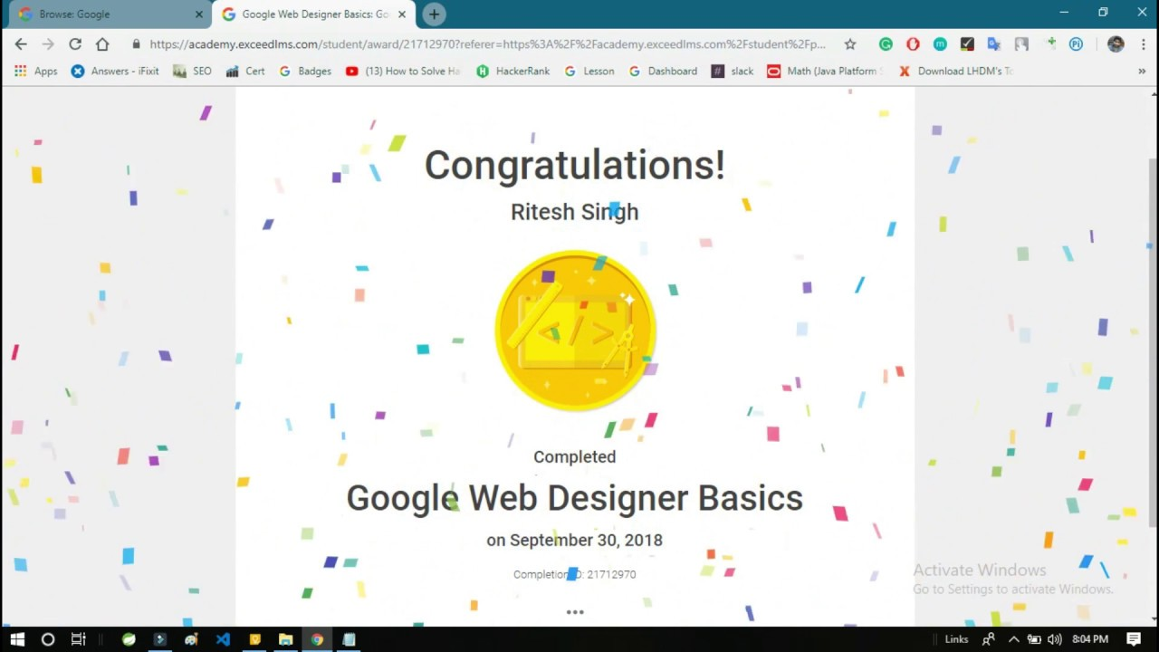 Google Web Designer Basics Exam Answers 2018 Youtube