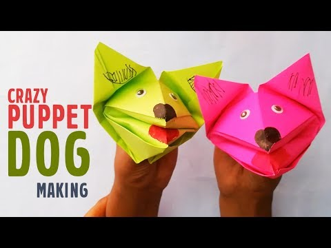 How to make a DOG Hand Puppet DIY | Paper Hand Puppet Craft | craftsbox