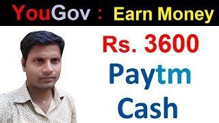 YouGov | Earn Rs. 3600 PayTM Cash By Just Filling Simple Surveys Online. [Hindi/Urdu]