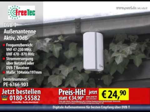 freetec aktive dvb t au enantenne 20db youtube. Black Bedroom Furniture Sets. Home Design Ideas