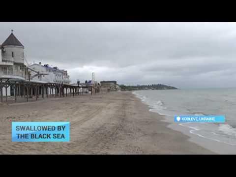 Swallowed by Black Sea: Rising water levels threaten popular resort town in Ukraine