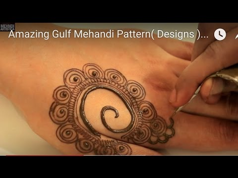 Amazing Gulf Mehandi Pattern( Designs ) For Hands | How To Improve Mehndi Art Step by Step Video