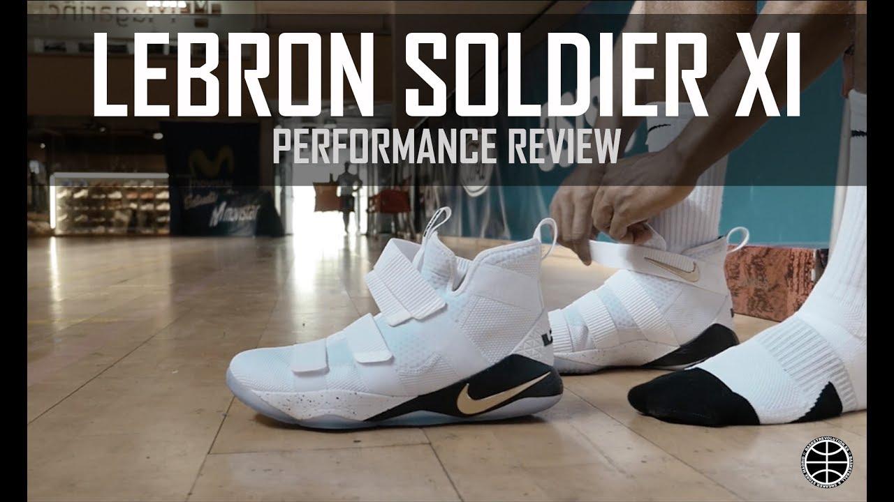 62b9934807bc4 Test Nike Lebron Soldier XI - YouTube