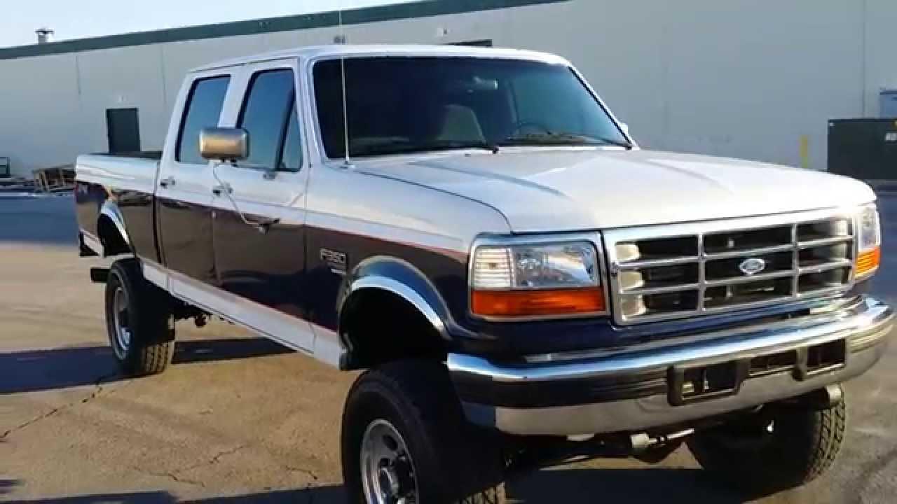 Com 1995 f 350 crew cab short bed xlt 4x4 5 speed 7 3l powerstroke turbo diesel youtube