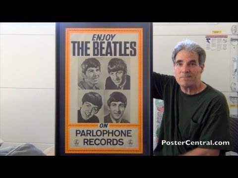 Beatles 1963 Parlophone Records Promotional Poster