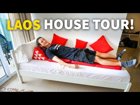 Living in Laos - VIENTIANE HOUSE TOUR | Mekong Accommodation for $61 USD Per Night