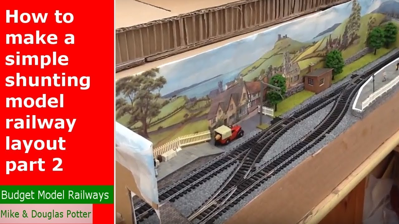 How to make a simple shunting/switching model railway layout part two. #1