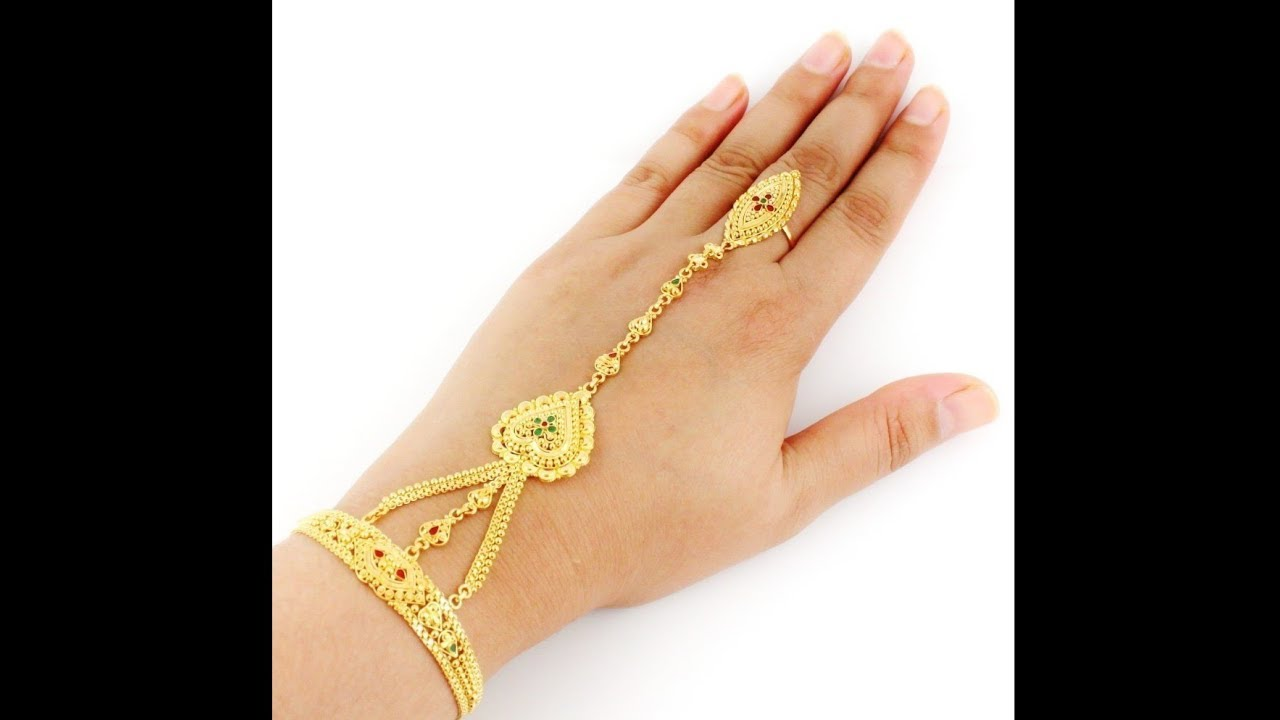 Gold Ring Chain Bracelet Gold Mantasha Gold Ratanchur Beautiful 30