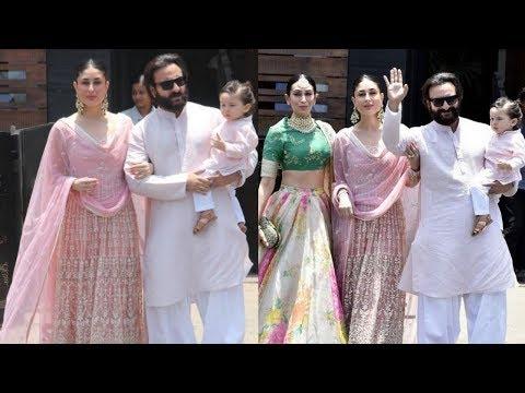 Grand entry of Kareena Kapoor Khan and Saif Ali Khan with son Taimur Ali  at Sonam Kapoor wedding